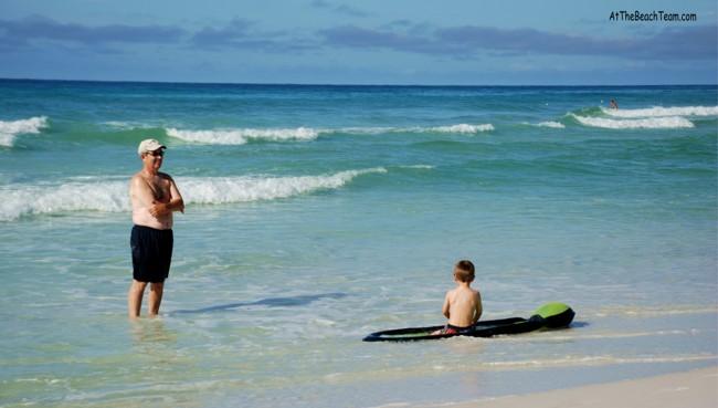 Grand Kids Like The Beach