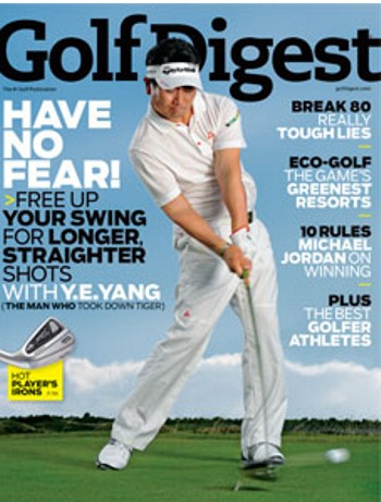 Golf Digest November Cover - Photo by J.D. Cuban